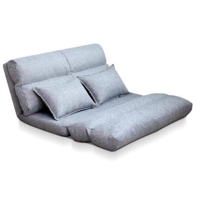 Artiss Double Size Adjustable Lounge Sofa - Grey