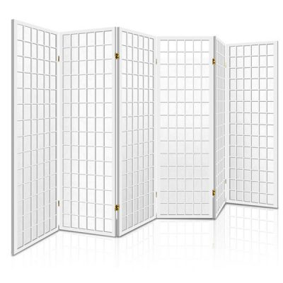 Artiss 6 Panel Wooden Room Divider - White
